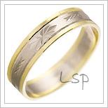 Snubní prsteny LSP 2475 kombinované zlato
