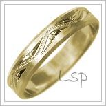 Snubní prsteny LSP 2476 žluté zlato