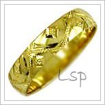 Snubní prsteny LSP 2478 žluté zlato
