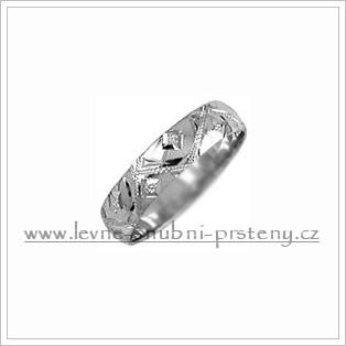 Snubní prsteny LSP 2478b bílé zlato