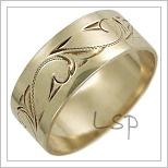 Snubní prsteny LSP 2482 žluté zlato