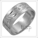 Snubní prsteny LSP 2482b bílé zlato