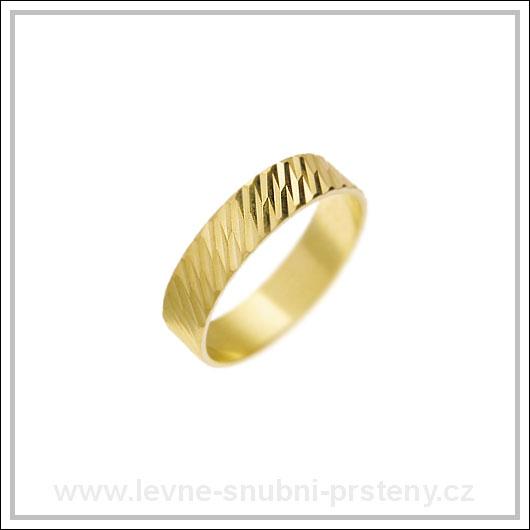 Snubní prsteny LSP 2483 žluté zlato