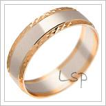 Snubní prsteny LSP 2484 kombinované zlato