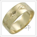 Snubní prsteny LSP 2485 žluté zlato