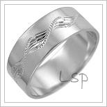 Snubní prsteny LSP 2485b bílé zlato