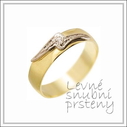 Snubní prsteny LSP 2497 žluté zlato