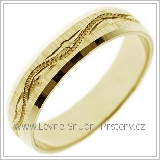 Snubní prsteny LSP 2500 žluté zlato