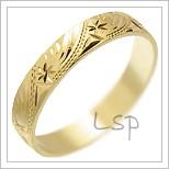 Snubní prsteny LSP 2503 žluté zlato