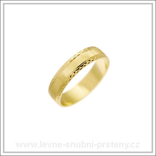 Snubní prsteny LSP 2506 žluté zlato