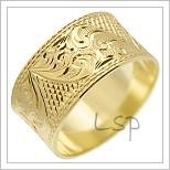 Snubní prsteny LSP 2507 žluté zlato
