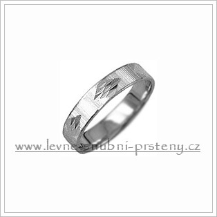 Snubní prsteny LSP 2508b bílé zlato