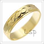 Snubní prsteny LSP 2510 žluté zlato