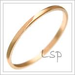 Snubní prsteny LSP 2515 červené zlato