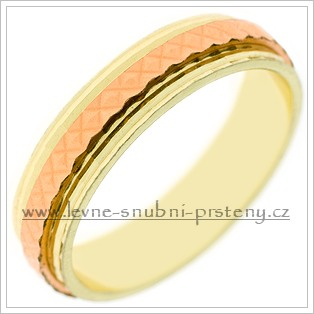 Snubní prsteny LSP 2518 kombinované zlato