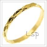 Snubní prsteny LSP 2524 žluté zlato