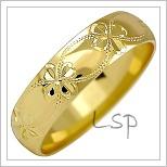 Snubní prsteny LSP 2527 žluté zlato