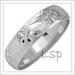 Snubní prsteny LSP 2527b bílé zlato
