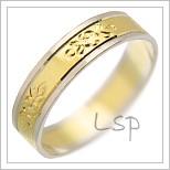 Snubní prsteny LSP 2533 kombinované zlato