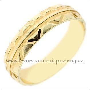 Snubní prsteny LSP 2539 žluté zlato