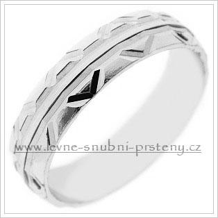 Snubní prsteny LSP 2539b bílé zlato