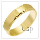 Snubní prsteny LSP 2542 žluté zlato