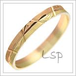 Snubní prsteny LSP 2552 kombinované zlato