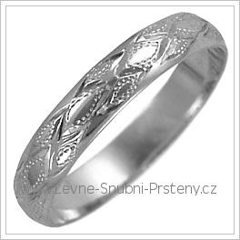 Snubní prsteny LSP 2553b žluté zlato