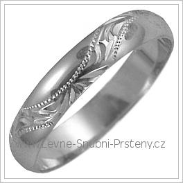 Snubní prsteny LSP 2564b žluté zlato