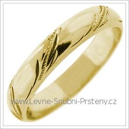 Snubní prsteny LSP 2566 žluté zlato