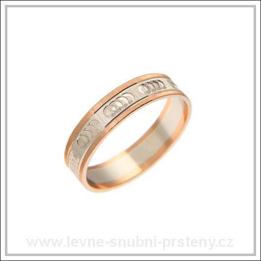 Snubní prsteny LSP 2569 kombinované zlato
