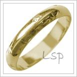 Snubní prsteny LSP 2571 žluté zlato