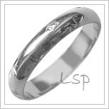 Snubní prsteny LSP 2571b bílé zlato
