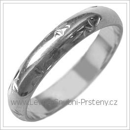 Snubní prsteny LSP 2571b žluté zlato