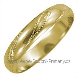 Snubní prsteny LSP 2573 žluté zlato