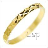 Snubní prsteny LSP 2577 žluté zlato