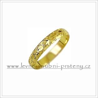 Snubní prsteny LSP 2583 žluté zlato