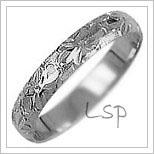 Snubní prsteny LSP 2583b bílé zlato