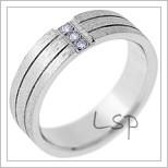 Snubní prsteny LSP 2584 bílé zlato