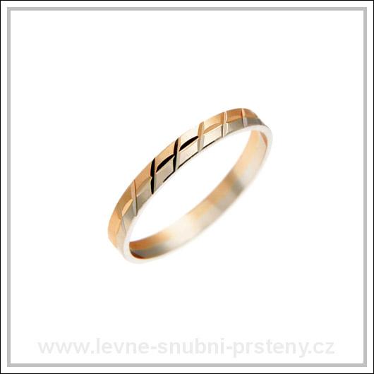 Snubní prsteny LSP 2585 kombinované zlato