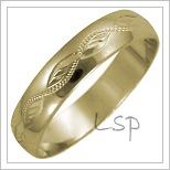 Snubní prsteny LSP 2586 žluté zlato