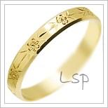 Snubní prsteny LSP 2594 žluté zlato