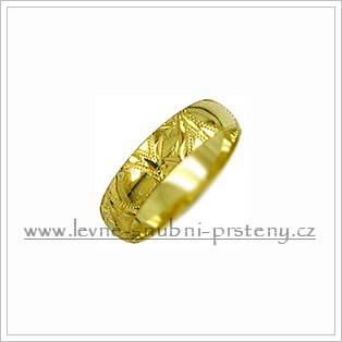Snubní prsteny LSP 2597 žluté zlato
