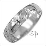 Snubní prsteny LSP 2597b bílé zlato
