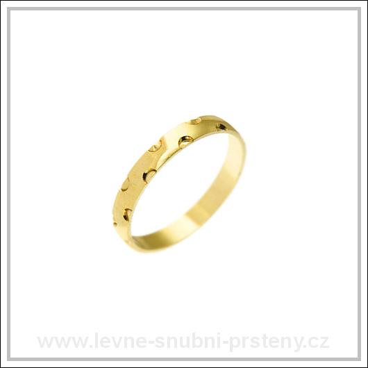 Snubní prsteny LSP 2603 žluté zlato