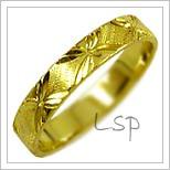 Snubní prsteny LSP 2606 žluté zlato