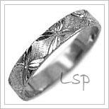 Snubní prsteny LSP 2606b bílé zlato
