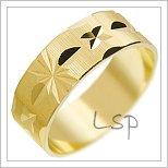 Snubní prsteny LSP 2612 žluté zlato