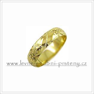 Snubní prsteny LSP 2617 žluté zlato