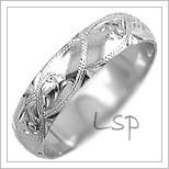 Snubní prsteny LSP 2617b bílé zlato